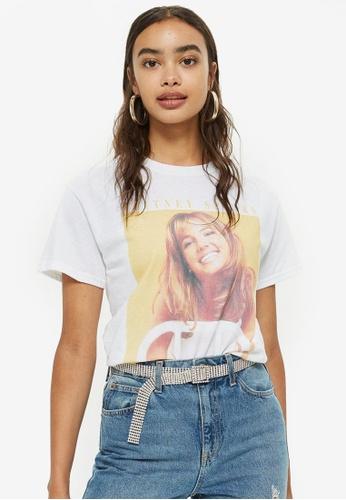 TOPSHOP white Britney Spears T-Shirt BECC2AA14785CFGS_1