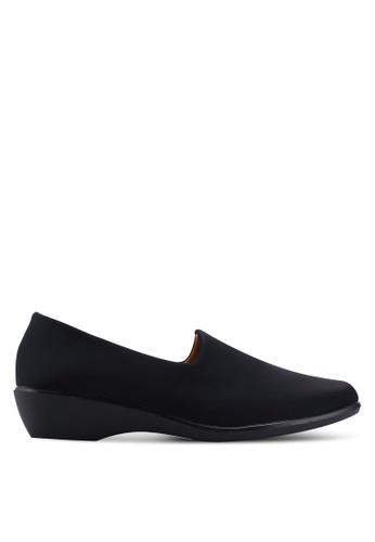 Noveni 黑色 舒適楔型鞋 DA479SH7433B3FGS_1