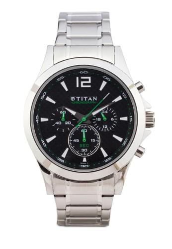 Titan 9323SMesprit tw08 多錶盤金屬錶, 錶類, 紳士錶