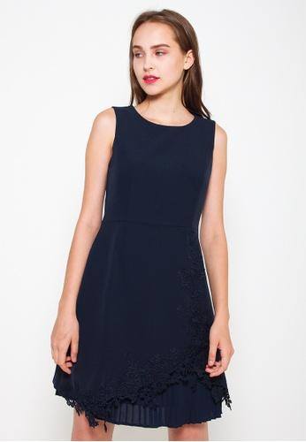 Leline Style blue Lia Pleats Embroidery Dress 0B552AA12EFE2CGS_1