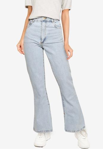 Cotton On blue Split Flare Jeans F6A98AA3B68B87GS_1