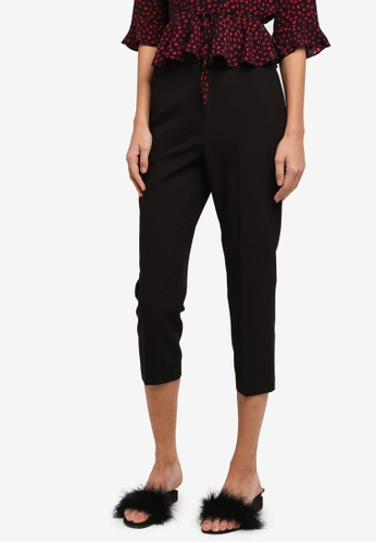TOPSHOP black Petite Highwaisted Trousers TO412AA0SIWWMY_1