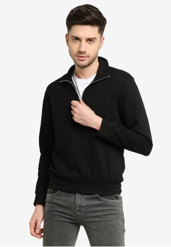 H&M black Relaxed Fit Sweatshirt 640C4AA1D0A459GS_1