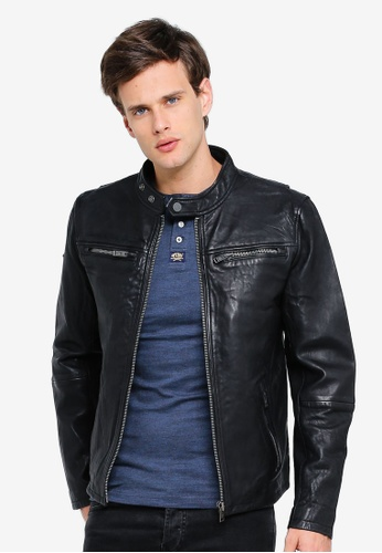 95f7b86ab1be Buy Superdry Classic Real Hero Biker Jacket Online on ZALORA Singapore