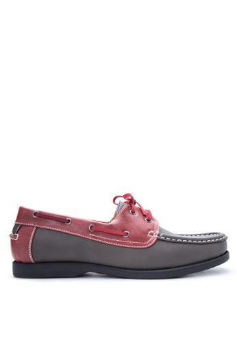 Preview grey and red Men's Boat Shoes PR211SH83DOEPH_1