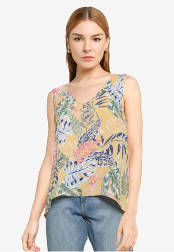 ONLY yellow Forest Life Sleeveless Top A6A45AA1AF4C3FGS_1