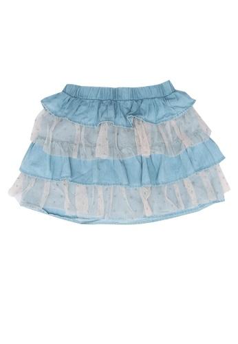 LC Waikiki blue Girl's Ruffled Jean Skirt 18222KACAA9B0CGS_1