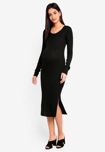Noppies black Maternity Jasmijn Long Sleeve Dress 4EBBEAA3F11304GS_1