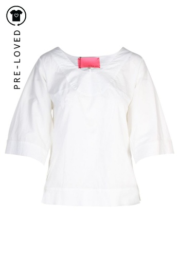 Lisa Ho white Pre-Loved lisa ho White Blouse 35BD4AABA4FD8EGS_1