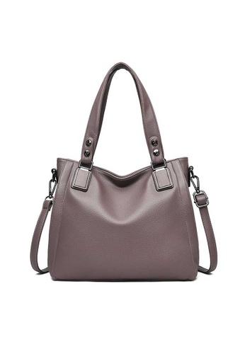 Lara beige Business Women's Soft Leather Shoulder Bag Handbag - Khaki C4B01AC155AB02GS_1