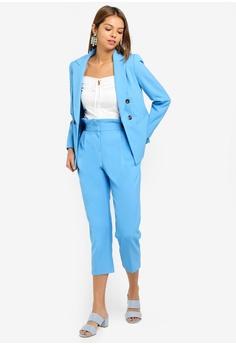 5152293ee77 50% OFF Miss Selfridge Petite Pale Blue Plain Paperbag Trousers RM 219.00  NOW RM 109.50 Sizes 4 6 8 10 12