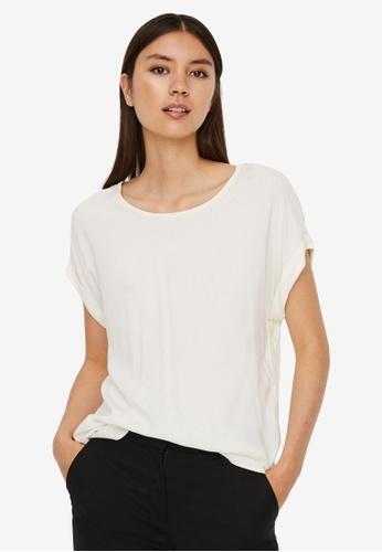 Vero Moda white Becca Short Sleeve Top 8E503AA87F25D5GS_1
