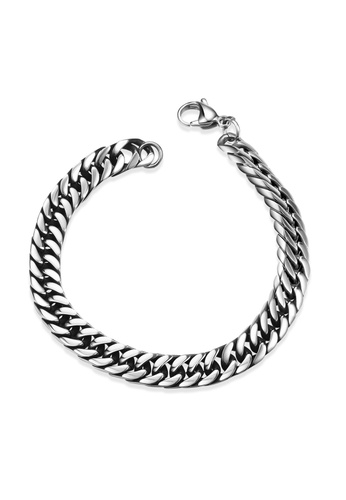 Treasure by B & D silver GMYH028 Punk Lobster Claw Clasp Snake Chain Bracelet 30913ACF1BD42DGS_1