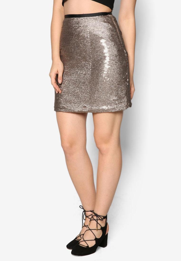 Skirt Miss Gold Selfridge Sequin Metallic qBFv7