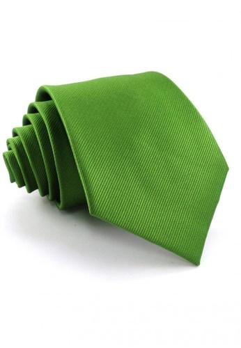 Tieline green Standard Microfiber Solid Textured Necktie TI886AC63UPKPH_1