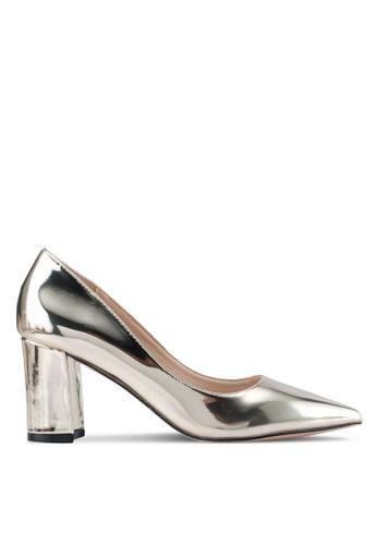 addicts anonymous gold Alice Metallic Chunky Classic Heels AD479SH0SR5CMY_1