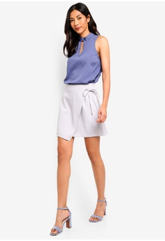 f3e266f85f 44% OFF ZALORA BASICS Basic Front Wrap Skirt HK$ 199.00 NOW HK$ 110.90  Sizes XS S M L XL · Something Borrowed blue Contrast Stitching ...