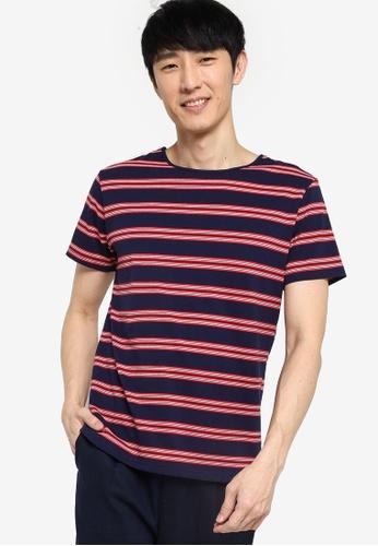 ZALORA BASICS multi Stripe Wide Neck T-Shirt 9D0C6AA43BE2E7GS_1