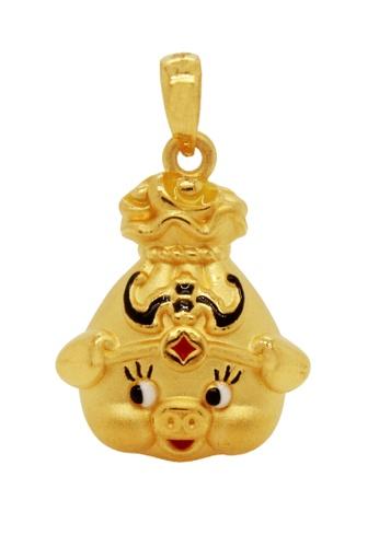 LITZ gold LITZ JINXI 999 (24K) Gold Adorable Pig Pendant 57387AC3E29F04GS_1