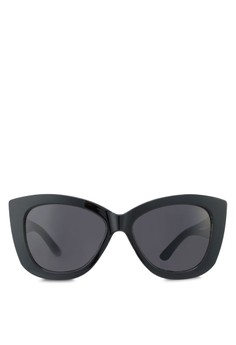 Black Chunky Cat Eye Sunglasses
