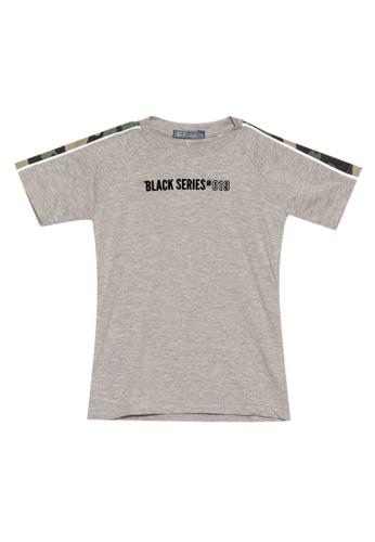 BOSSINI KIDS grey Round Neck T-Shirt E7E58KA923B68FGS_1