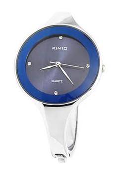 Kimio Elegant Ladies Rhinestone Quartz Bracelet Wrist Watch - Blue Dial