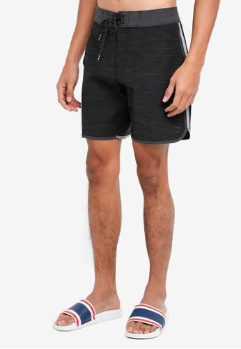 Billabong 黑色 雙色海灘褲 BI783AA0SXGAMY_1