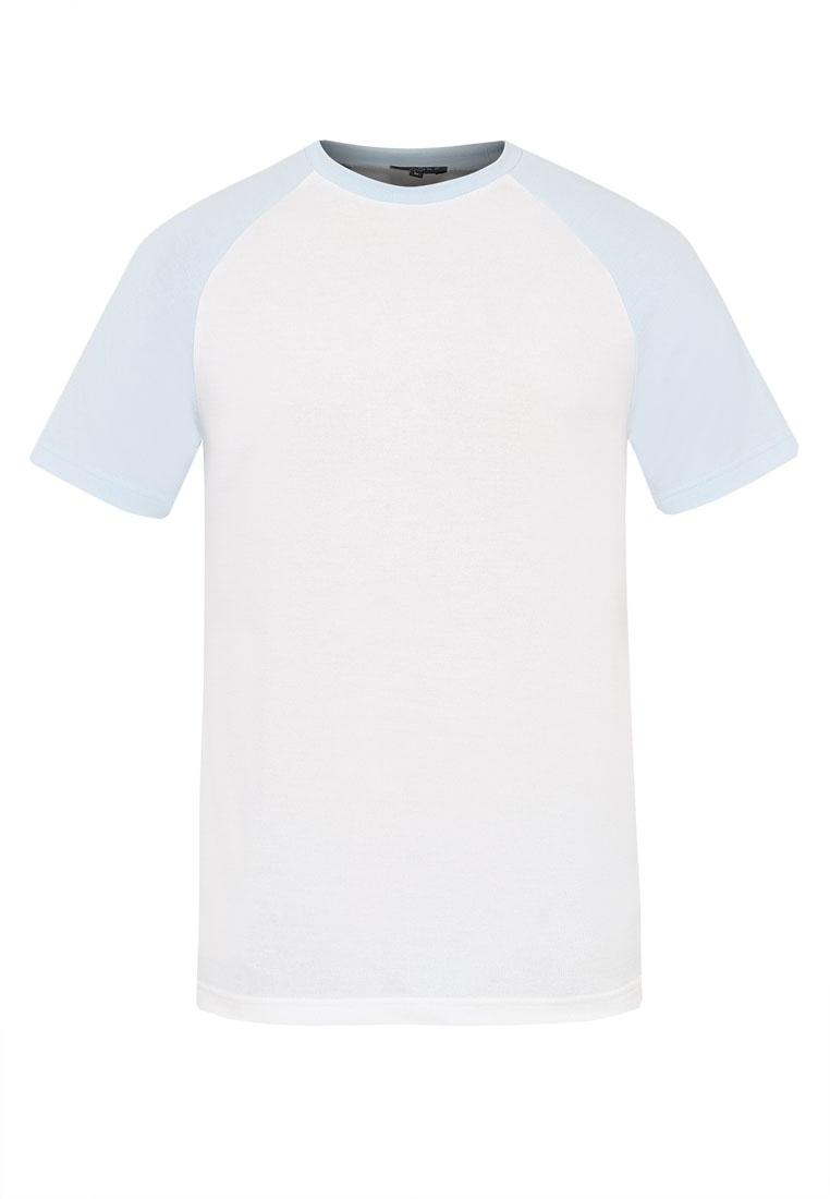 Short Blue Tee Sleeve Light ZALORA White Raglan 6wqdYC6
