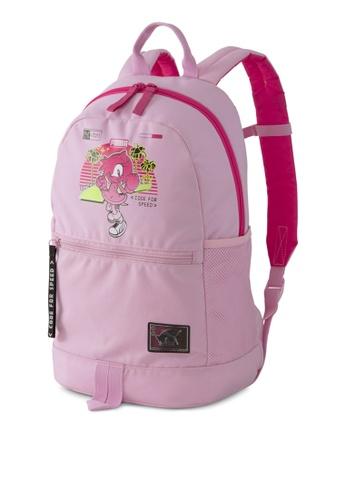 Puma pink Puma X Sega Backpack 168B5KC445DF52GS_1