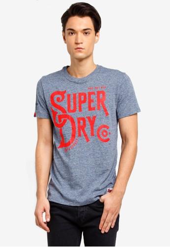 Superdry grey 34th Street Tee 715DAAA5CB0BADGS_1