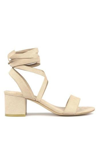 Betts beige Chyna Lace-Up Block Heel Sandals 677B1SH0E0B821GS_1