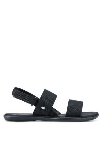Kenneth Cole black Kcny Holland C Sandals 0BB41SH5FE0A5CGS_1