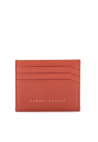 Samuel Ashley orange Samuel Ashley Jillian Card Holder - Rust D301CACB177CAEGS_1