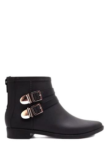 Twenty Eight Shoes black Double Golden Buckles Rain Boots VRU301 09397SH8F8C3CFGS_1