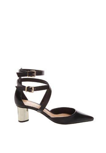 SCHUTZ black SCHUTZ Strap Sandal with Metal Heel - PEGGY (BLACK) 15CD7SHC01665EGS_1