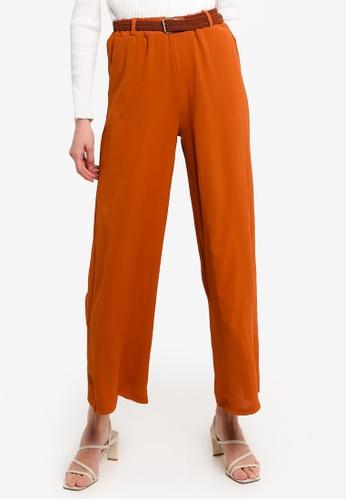 LC Waikiki orange Knit Belted Trousers 7799AAA53E21EDGS_1