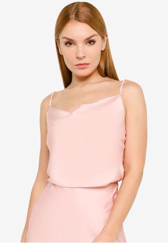 FORCAST pink FORCAST Jayla Cowl Neck Cami 7932FAA241F461GS_1