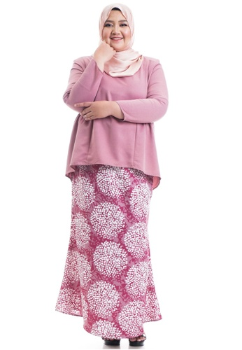 Ashura pink Shakela Kurung With Gathers Plus Size 97EC3AA8F56831GS_1