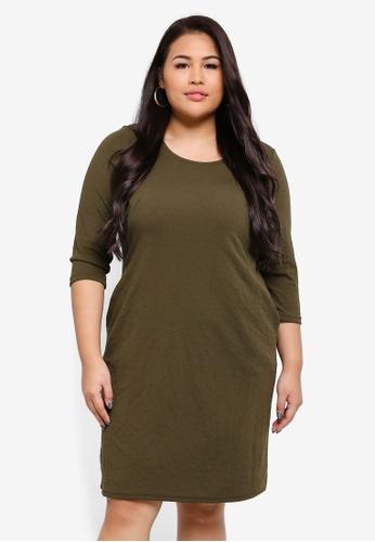 Junarose green Plus Size Flavia Mini Dress DB322AA6A7023DGS_1