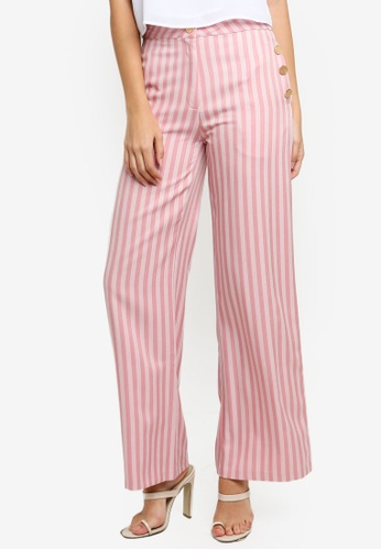 Sister Jane pink Earhart Wide-Leg Trousers CCCE0AA3F113D8GS_1