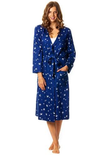 Fly Away 燕子印花睡裙、 服飾、 睡衣DeshabilleFlyAway燕子印花睡裙最新折價