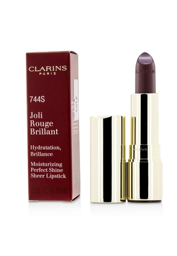 Clarins CLARINS - Joli Rouge Brillant (Moisturizing Perfect Shine Sheer Lipstick) - # 744S Plum 3.5g/0.1oz E2CA6BE6F3F9E2GS_1