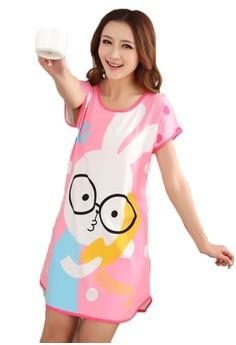 Cute Cartoon Character Night Dress - Nerdy Rabbit