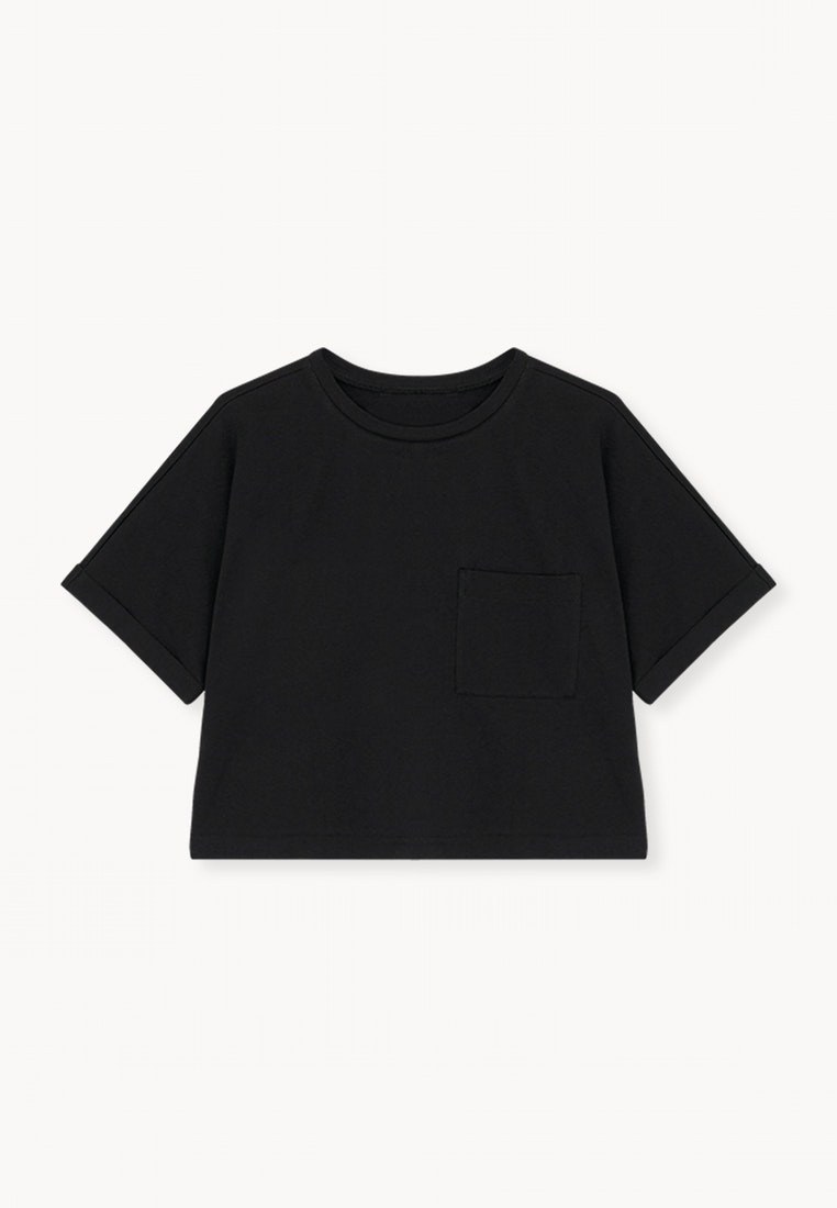 Black Pocket Black Tee Cropped Pomelo Front 1ExqXBwxv
