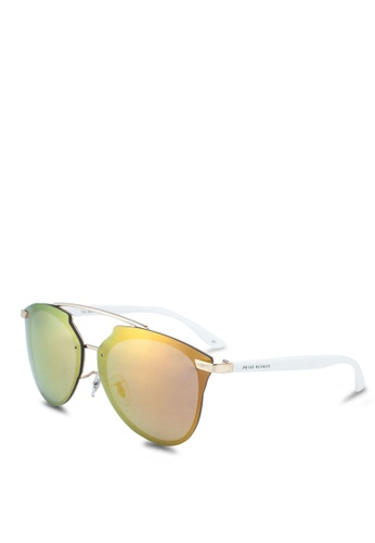Privé Revaux 褐色 多色圓框太陽眼鏡 94C3AGL66227A5GS_1