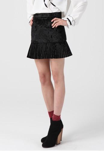 韓流時尚 esprit台灣天鵝絨迷你裙 F4013, 服飾, 及膝裙