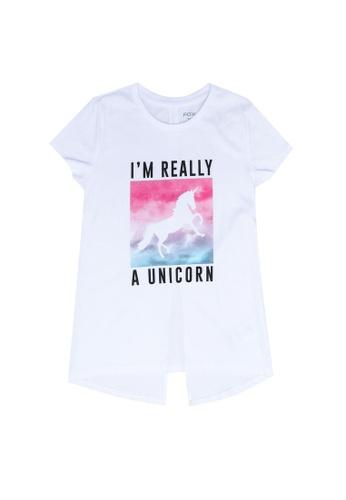 FOX Kids & Baby white Kids Girl Short Sleeve Tee EE47EKA1139A80GS_1