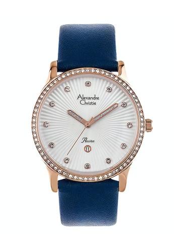 Alexandre Christie blue Alexandre Christie Jam Tangan Wanita - Blue Rosegold - Stainless Steel - 2743 LDLRGSLBU 20DFEAC03B0A13GS_1