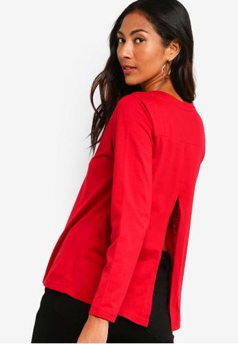 ZALORA BASICS red Basic Long Sleeves Round Neck Top 85F51AAE39C653GS_1