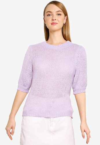 Vero Moda purple Short Sleeve Pullover 2D5FDAA7458671GS_1